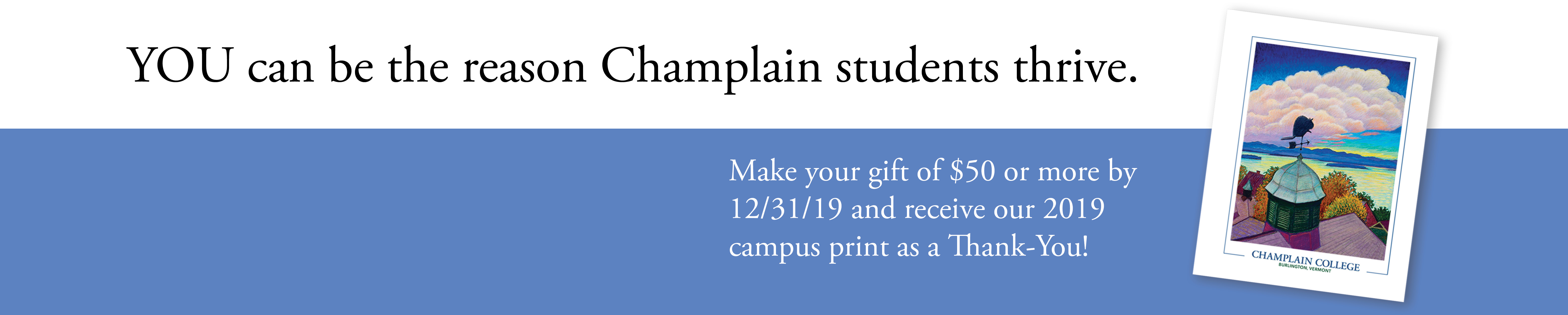 Make your gift by 12/31/2019!